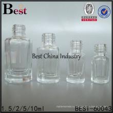 1,5 мл мини квадратной формы стеклянный контейнер пустой уникальный лак для ногтей бутылки