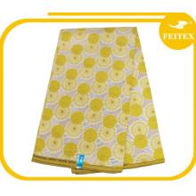 tissu de coton / polyester en gros tissu imprimé par cire tissu africain de cire pour des robes de mariage