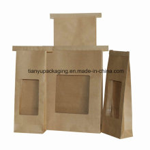 Brown Kraft Bag for Coffee Beans with Window
