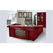 Design de mesa de escritório em madeira de estilo moderno com Lshape