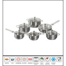 12PCS Stainless Steel Apple Cookware Set
