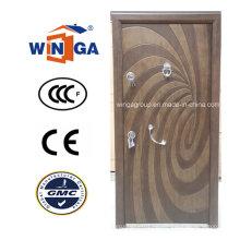 Puerta blindada de la chapa de acero de MDF de la seguridad del Winga del estilo del arte (W-T04)