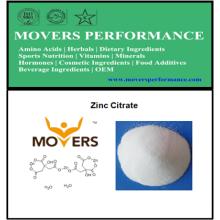 Hot Selling Food Grate Mineral: Citrato de zinco