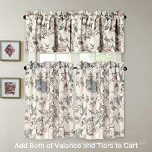 Rustic Style Ultra Soft Microfiber Material Window Valance