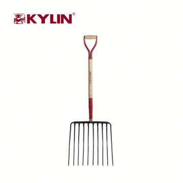 Precio competitivo jardín herramientas profesionales 10 dientes tridente