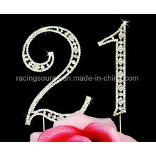 Sparkly Vintage Number Wedding Cake Topper Birthday Anniversary