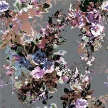 Digital Printed Silk Chiffon Fabric (XF-0096)