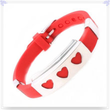 Fashion Jewelry Silicone Bracelet for Magnetic Bracelet (LB028)