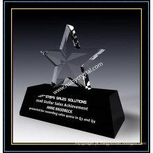 Presente do troféu do prêmio da estrela de cristal 6 polegadas de altura (NU-CW864)