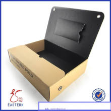 Caja de empaquetado de la camisa de papel de la cartulina de encargo / caja de empaquetado de la camisa con la tapa de la ventana del PVC
