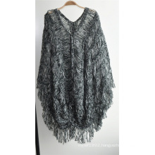 Ladies 100% Acrylic Fancy Yarn Knit Pullover Sweater