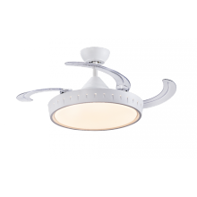 Ventilateur de plafond tout blanc avec lumière LED