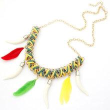 Collier en caoutchouc perlé à la chaîne en plastique coloré punk Yiwu