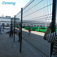 Galvanized Pvc coated 3d weld wire mesh fencing