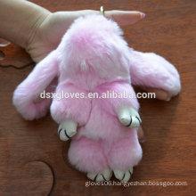 Best Girl Friend Gift Cute Lovely Fur Rabbit Key Chain Birthday Gift Christmas Gift 8008