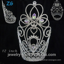 Fashion Large Beauty Pageant Crowns, Wedding Crown, Princess Crown For Girl