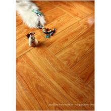 12.3mm Mirror Walnut Water Resistant V-Grooved Laminate Floor