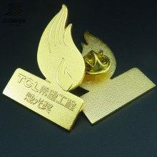 Crachá chapeado ouro feito sob encomenda do botão do metal do Pin do projeto novo para o presente relativo à promoção