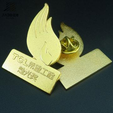Новой конструкции изготовленный на заказ Покрынный золотом штырь металла, значок Кнопки для Выдвиженческого подарка