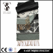 Nueva bufanda del telar jacquar de la manera del diseño de la venta caliente en bufanda larga muy suave de los hombres del tacto de la mano