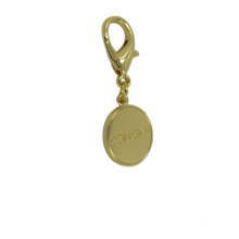 Fábrica de Dongguan personalizada Rould Gold Metal Keyring