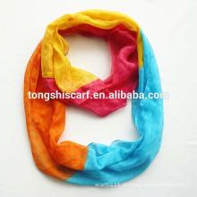 Lenço tingido fio do tubo de Yong da forma com impressão do arco-íris