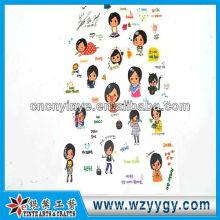 2013 nuevo diseño pegatinas de pvc para la decoración de lujo