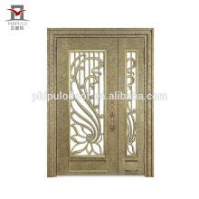 Nuevo diseño de la parrilla de la puerta del hierro labrado del estilo / diseño de la puerta de la puerta del hierro