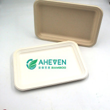 Amazon Hot Selling Rectangle Sugarcane Bagasse Pulp Plates For Fast Food