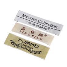Factory Custom Cotton Clothing Woven Label with Logo