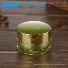 YJ-BE15 15g alto brilho quente-vendedor camadas dobro 15ml verde acrílico jar