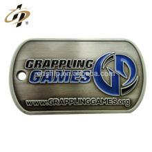 Free design custom enamel 2d walmart metal dog tag by machine