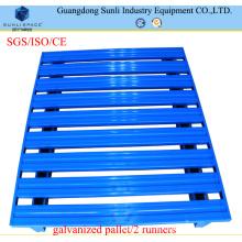 1200X800X130 Rostfreie stapelbare Stahlpalette