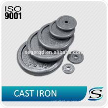 placas de peso individuales de hierro estándar