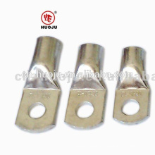 Bright tinned copper Cable lug (tubular,crimp type) with no inspection hole