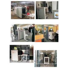 Anti terrorist dual view X ray cargo scanner for railways station with CCTV system