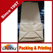 Kraftpapier Tasche mit Fenster und Zip-Lock (220096)