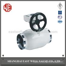 Shutter pneumatic fully welded ball valve