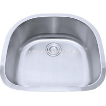 Oval kitchen sink kitchen appliance with thickness gauge