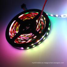 Control individual DC24v 60 leds dmx rgb tira led cinta de luz