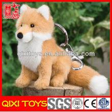Nuevo juguete 2014 fox toy mini felpa fox keychain