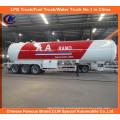 ASME 50m3 Semi-reboque de transporte de GLP 56000L