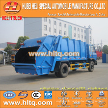 DONGFENG 4x2 12 M3 refuse compactor truck with pressing mechanism diesel engine 190 hp