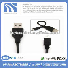 Câble USB 2.0 à mini5Pin pour appareil photo MP3 MP4