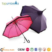 Parapluie promotionnel dames droites fille mariages pour parasol fantaisie soleil