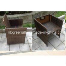 Rattan / silla de mimbre al aire libre para la tabla del cubo