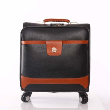 2018 Customized Design PU Trolley Luggage Bag