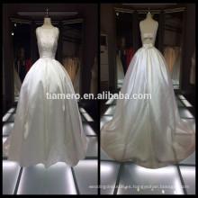 Princesa estilo pétalos dulces blanco pequeño trailing vestidos de novia