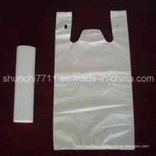 HDPE T-Shirt Tote Handle Plastic Shopping Bag