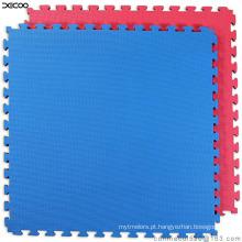 T padrão roxo cor verde Eva Taekwondo Mat